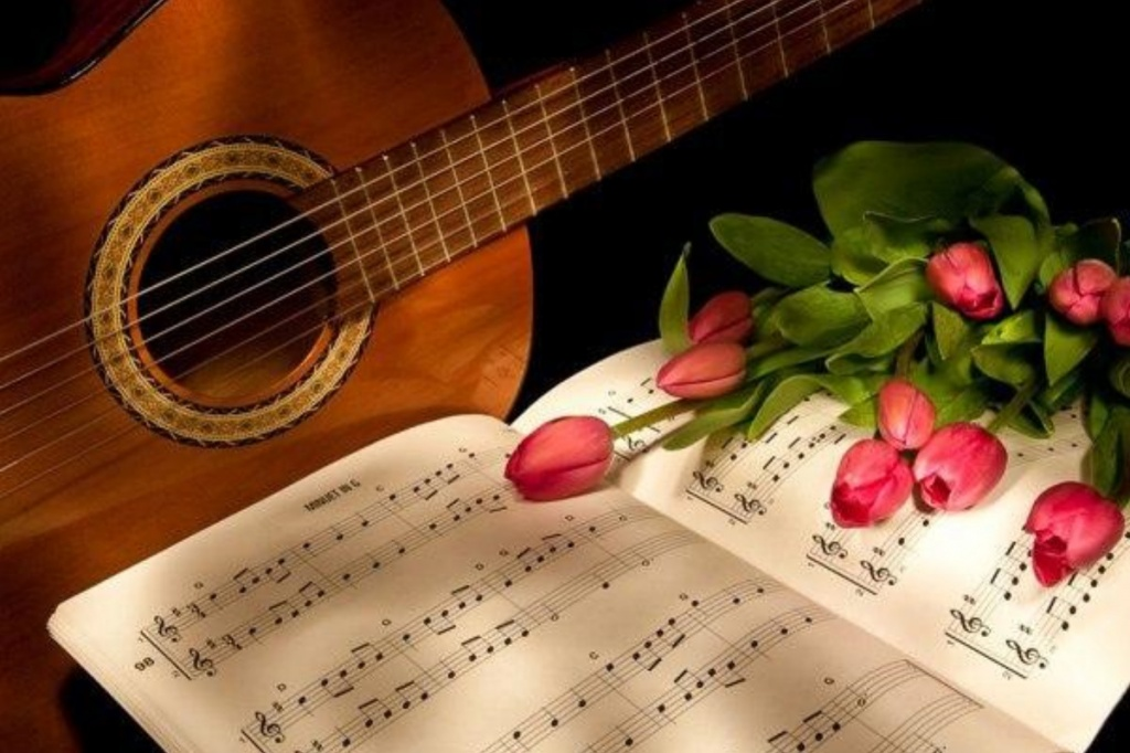 Гитара и ноты