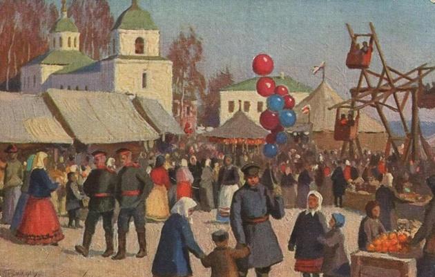 Гермашев М., Народный праздник на Пасху.630.jpg